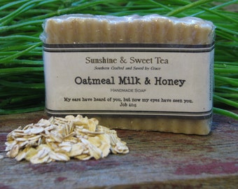 "Handmade ""Oatmeal Milk and Honey"" Soap"