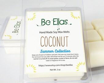 Summer Fragrances, Coconut Soy Wax Melts, Mix and Match, Wax Tart Melts, Scented Wax Melts, Scented Wax Tarts, Soy Wax Melts, Gift Idea