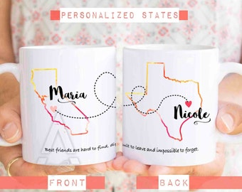 long distance friendship mug, going away gift for friend, unique friendship gifts, goodbye best friend gift, best friend long distance MU277