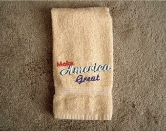 Hand Towel, embroidered towel, holidays, kitchen and dining,linens,home decor,bath decor,bath hand towels,patriotic,kitchen towel,housewears