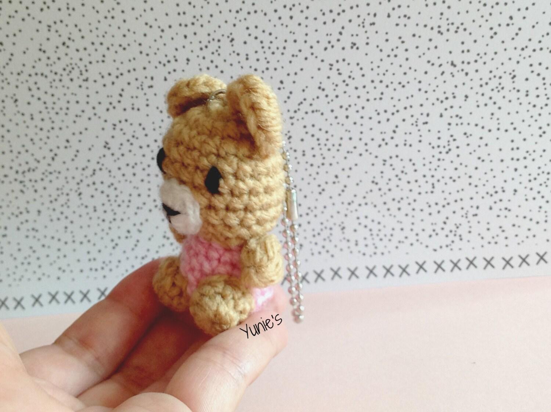 Crochet amigurumi Bear amigurumi keychain Bear amigurumi