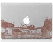 Macbook 13 inch decal sticker old hourse and apple art for Apple Laptop