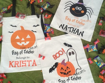 Personalized Trick-or-Treat bag, Halloween Tote with FREE personalization!!
