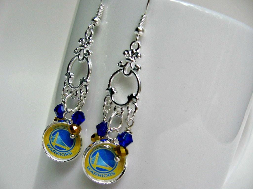 golden state warriors earrings golden state warriors jewelry
