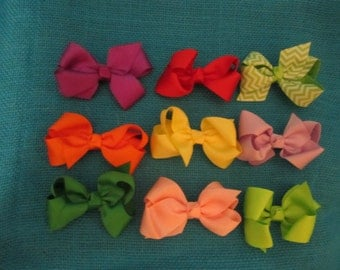 Grosgrain Ribbon bow with clip