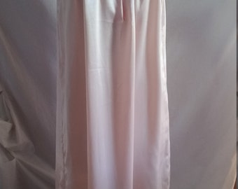 Pink satin nightdress with hand embroidery size 14