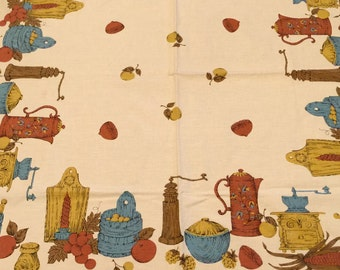 Vintage Cotton 47 by 47 inch Table Cloth