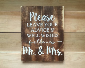 Sign for wedding guest book table / wedding decor