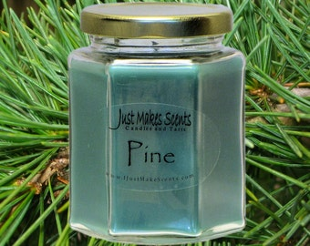 Pine Scented Candle - Scented Soy Candle - Free Shipping on Orders of 6 or More - Homemade Pine Scented Soy Candles - Pine Candle