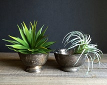 Vintage Silver Plated Bowls - Mini Sized / Revere Bowl Pair