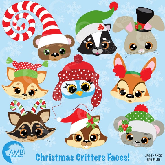 Christmas Clipart Forest Animals Clipart Baby Animal Faces