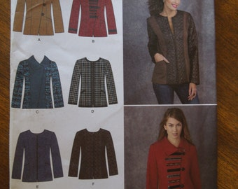 Simplicity 1320, sizes varies, misses, womens, UNCUT sewing pattern, craft supplies, jacket with variations