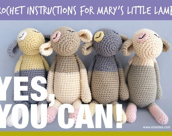 "Crochet pattern for ""Mary's little lamb"", DIY"