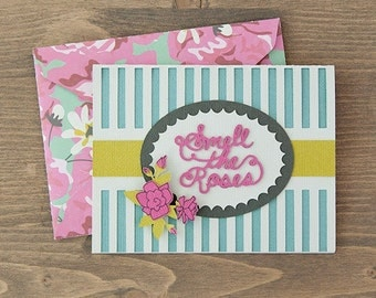 Smell the Roses Card and Envelope