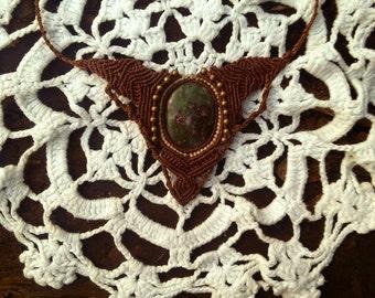 Tribal Calcedonit Bohemian Necklace gipsyJewelry