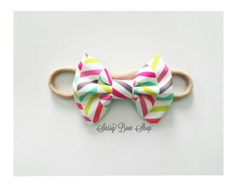 Summer Rainbow Mini Bow