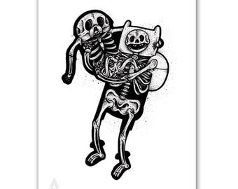 Finn and Jake skeletons