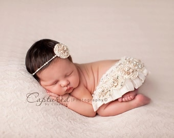 Off White Butterfly Bean Bag Posing Fabric Newborn Photography Backdrop Posing Fabric Newborn Baby RTS Newborn Backdrop - 2 Yards