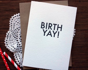 Letterpress Birthday Birthyay Card