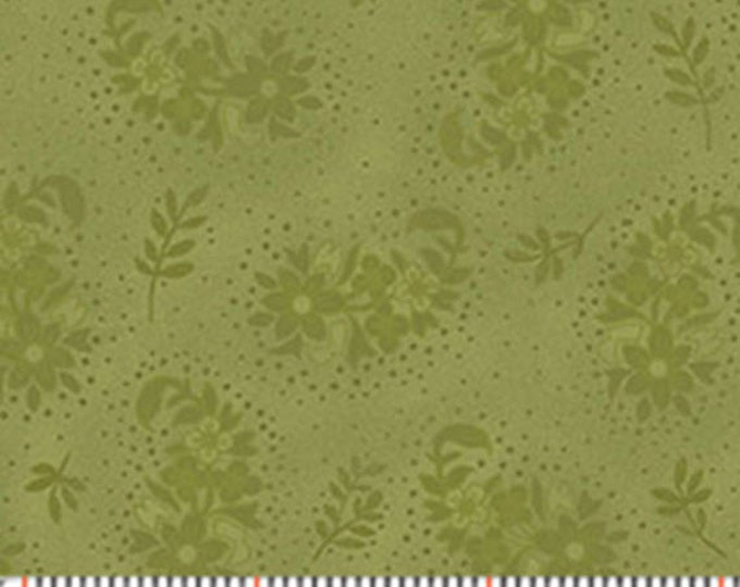 Half Yard Zoey - Evening Garden in Bamboo Green - Floral Cotton Quilt Fabric - Eleanor Burns - Benartex Fabrics - 717-40 (W3511) Christine