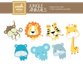 Jungle Animals Clipart Set