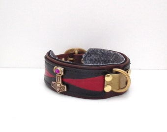 Leather dog collar ,Thor.