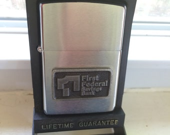 Vintage Zippo Lighter with Advertising Logo