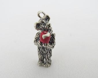 Vintage Sterling Silver 3D Teddy Bear Charm Pendant
