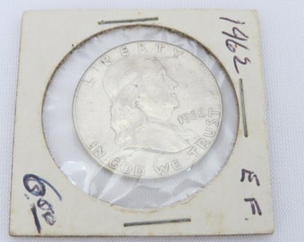 1962 Franklin Half Dollar 90% Silver Coin