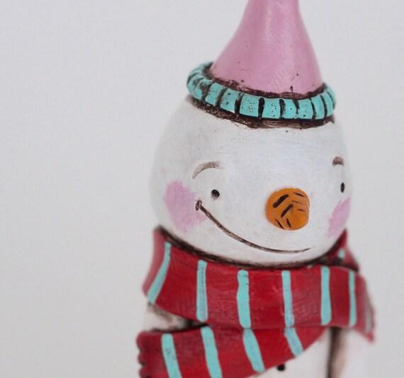 Sombrero de trullo rosa de rayas de invierno