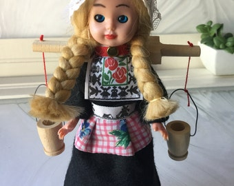 Vintage Scandinavian Souvenir Doll
