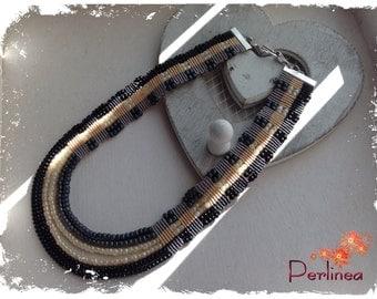 Micromacrame necklace with Miyuki beads