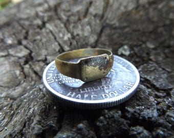 World War One German Soldier Ring - Recovered in a German Bunker, Battlefield Recovery, WW1 WWI Authentic Unique Military Antique