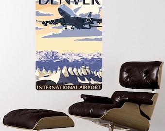 Denver Colorado DIA Airport Wall Decal - #60888