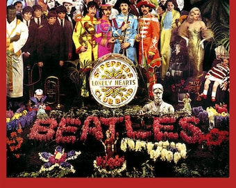 items similar to pdf version beatles sgt pepper drum head counted cross stitch chart immediate. Black Bedroom Furniture Sets. Home Design Ideas