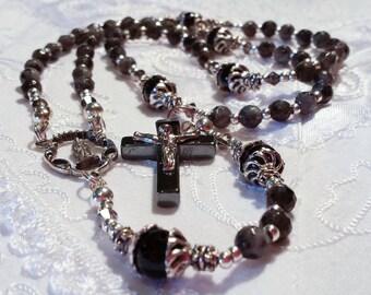 Larvikite Labradorite Rosary