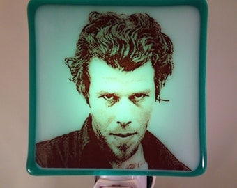 Tom Waits Night Light Fused Glass