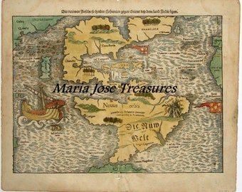 Vintage North, Central and South America Maps - Digital Download