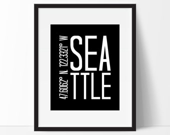Seattle Wall Art seattle washington | etsy