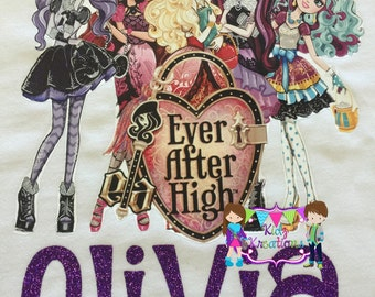Ever After High, Personalized Shirt, Birthday Shirt, Dolls