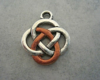 Silver and Copper Celtic Charm and Pendant