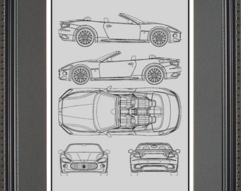 Jeep blueprint collection drawing art car auto gift bjeep2024 maserati blueprint framed art car auto gift choose your model bmasr malvernweather Choice Image