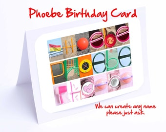 Phoebe Personalised Birthday Card