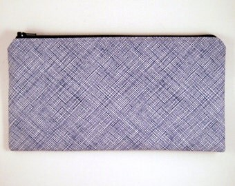 Blue Make Up Pouch, Gadget Bag, Pencil Case, Pencil Pouch