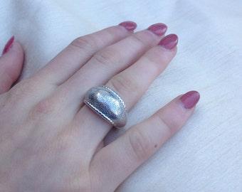 Black Friday Sale)  Charles Garnier Sterling Silver Dome Band Ring - Sterling Silver Dome Band Ring - Size 8.25 - Charles Garnier