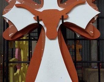 Texas Longhorn Wooden Cross