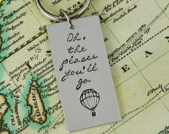 Oh The Places You'll Go Keychain