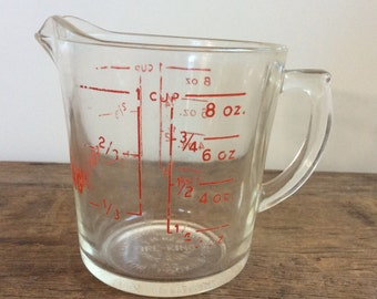 Vintage Fire King Glass Measuring Cup