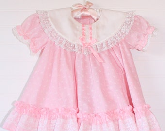 Vintage baby dress. Baby Pink, Miniworld for 6-9 Mo