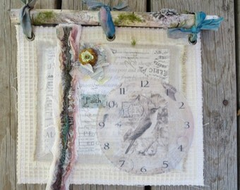 Fabric Collage/Mixed Media Assemblage